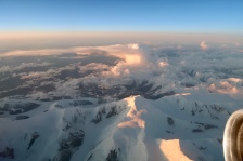 The view from the plane to Fairbanks